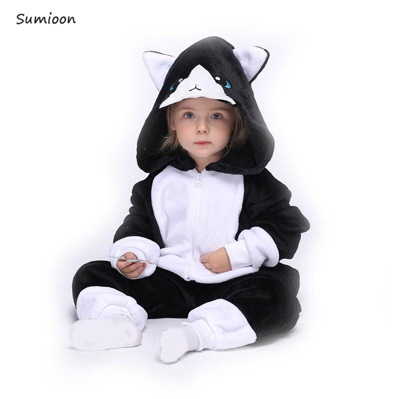 Kigurumi Children's Pajamas For Boys Girl Unicorn Pajamas Flannel Kids Stitch Pijamas Suit Animal Sleepwear Winter Panda Onesies