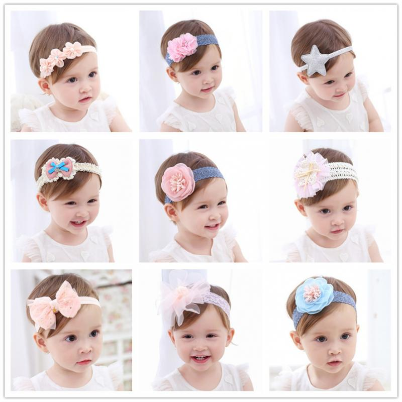Baby Girls Kids Headbands Turban Newborn Hairband Baby Headband Flower Girls Pink Ribbon Hair Bands Hair Accessories Jewelry