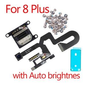 Image 3 - 5 セット/ロットlcdの表示画面iphone 7 グラム 7 8 プラス金属小さな部品保護カバー耳スピーカーフロントカメラフレックス
