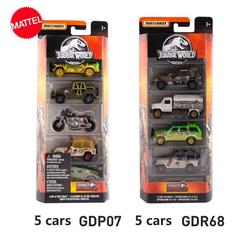 Mattel Matchbox 1:64 машина из сплава фильма Юрского периода той же модели 5 комплектов модель автомобиля коллекция детских игрушек FMX40