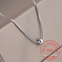 Exquisite Glänzende Kleine Runde Perle 925 Sterling Silber Halskette Glück Perle Halsband Party Geschenk Für Mädchen Fashion Party Schmuck