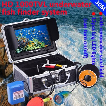 30M 1000TVL Color Underwater Camera for Fishing Infrared IR LED 7 Inch Video Monitor Fish Finder Ice Fishing Camera EU Plug 1