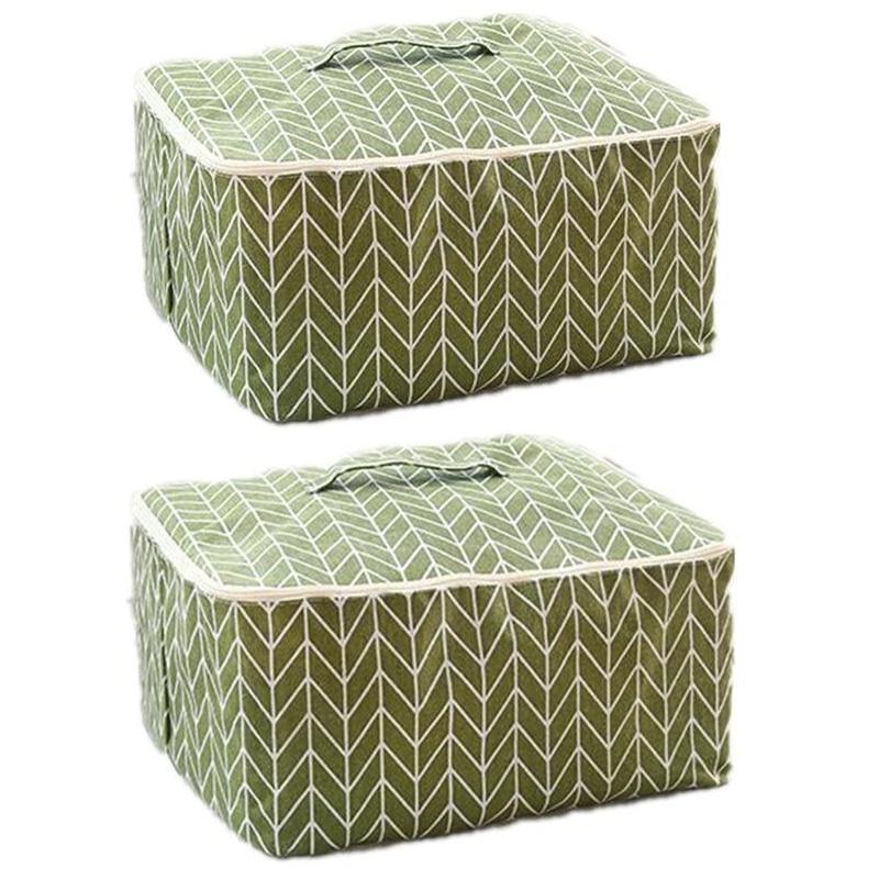 Durable Cotton Quilt Pillow Blanket Storage Zipper Bag Storage Box Storage,Large Clothes Storage Bag
