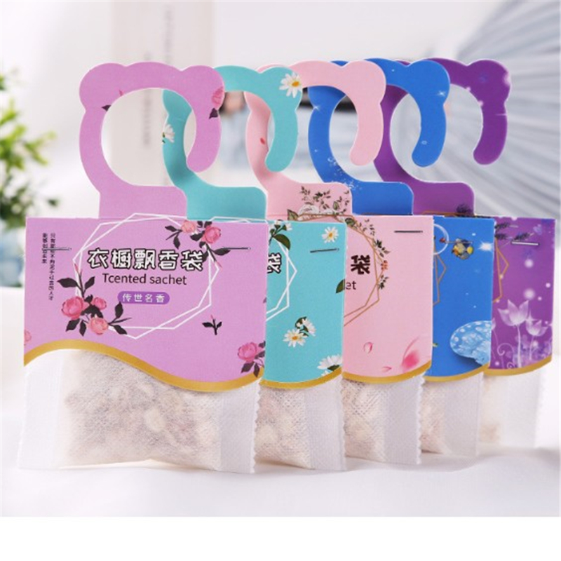 1PC Aromatherapy Air Fresh Refreshing Scent Bag Cute Bear Printing 5 Kinds Smell Perfume Natural Smell Incense Wardrobe Sachet