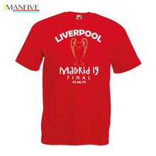 Madrid 2019 Liverpool T Shirt Final Football League Club Klopp Top 19