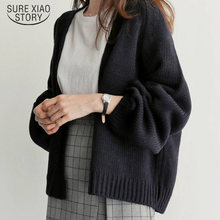 Casual Open Stitch sweater Solid Knitting Outwear Female Cardigan Women's 2019 New Korean Loose Sweater Women Coat 6341 95(China)