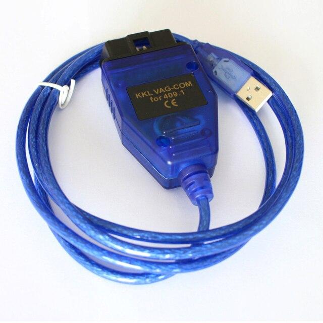 Beyisi VAG-COM 409.1 Vag Com 409Com vag 409.1 kkl OBD2 USB Diagnostic Cable Scanner  Interface For VW Audi Seat Volkswagen Skoda 4