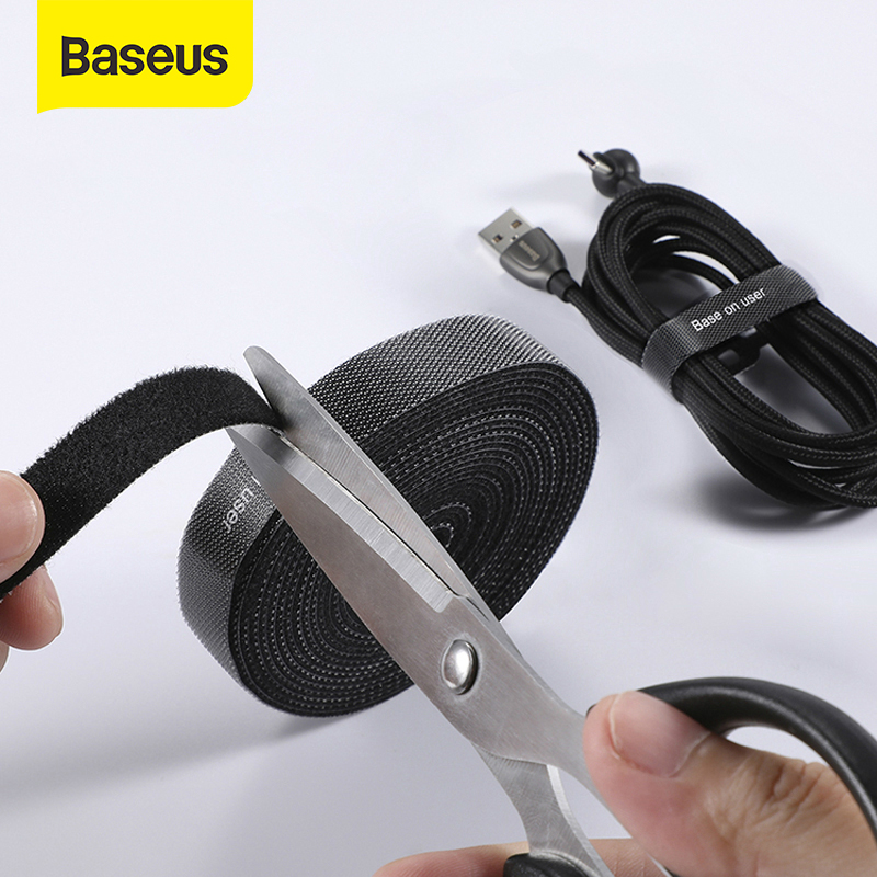 Baseus Cable Organizer USB Cable Winder For IPhone IP /Micro Usb /Type C Free Length Cable Clip Office Desktop Management