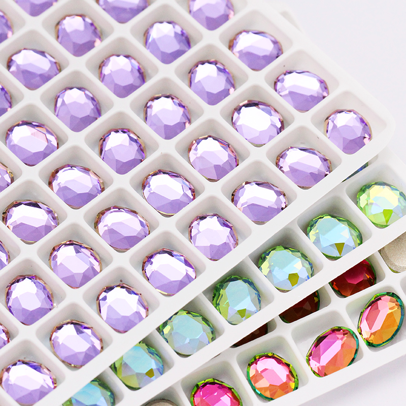 8x10mm Oval Nail Art Decorations Crystals Strass Flat Back Stones Rhinestones Applique Color Stone for Craft Dress Gymnastic Clo(China)
