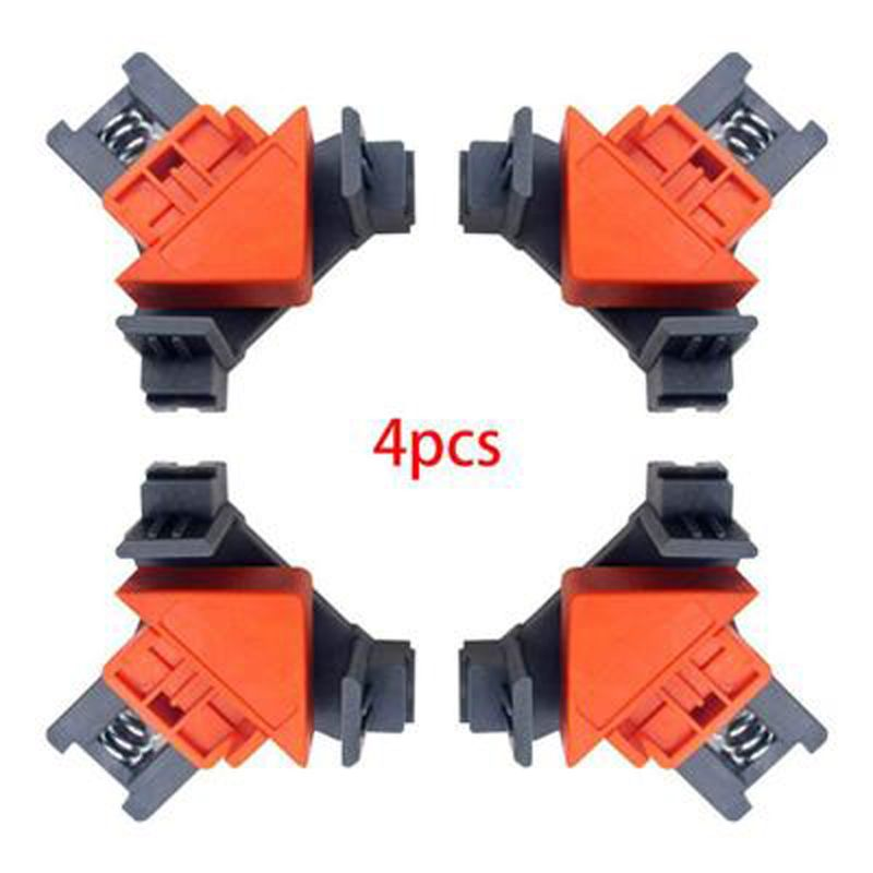 90 Degree Right Angle Clamp Fixing Clips Woodworking Hand Tool Locator Corner Clip Positioning Fixture Tool Auto-adjustable Angl