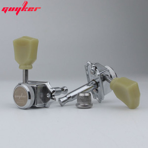 Image 5 - 1 Set GUYKER 3R3L Locking String Vintage Deluxe Electric Guitar Machine Heads Tuners Nickel /Chrome Tuning Pegs