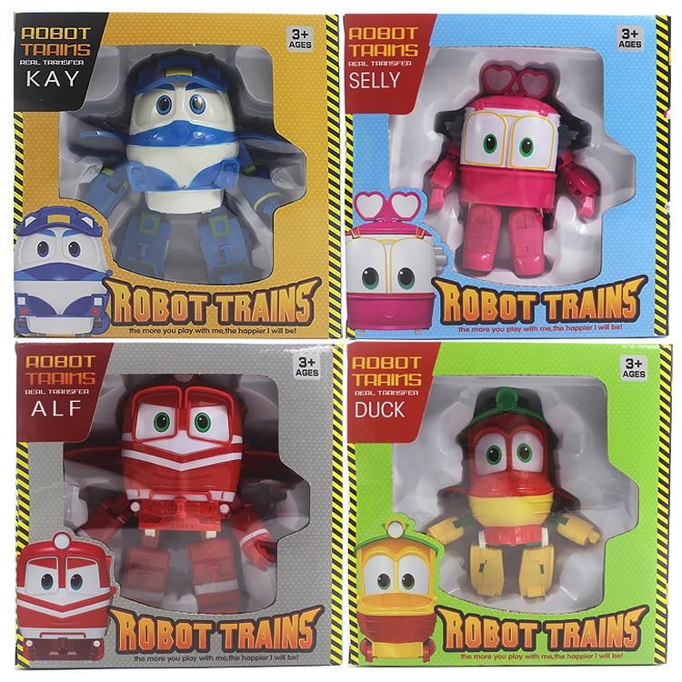 4 шт./компл. робот поезда трансформации Аниме Фигурки игрушки ПВХ RT Kay Alf Duke поезд автомобиль подарок детям