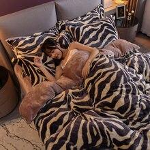 Copripiumino caldo invernale biancheria da letto in flanella biancheria da letto in velluto corallo set di biancheria da letto trapunta a quattro pezzi in velluto di latte a doppia faccia