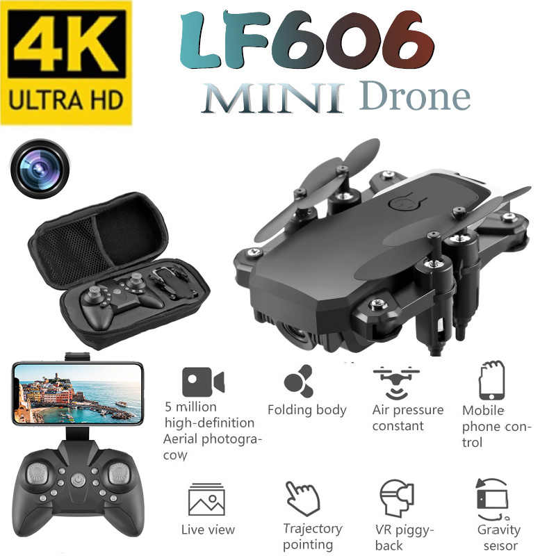 Nieuwste Mini RC Drone LF606 4K Ultra HD Drone 2.4G 360 Graden Rollover Speed Switching Headless Modus RC quadcopter Dron Speelgoed Kids