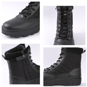 Image 5 - Nam Sa Mạc Chiến Thuật Quân Sự Giày Nam Công Việc Lại An Toàn Giày Zapatos De Hombre Quân Khởi Động Mắt Cá Chân Buộc Dây Chiến Đấu Giày nam Giày