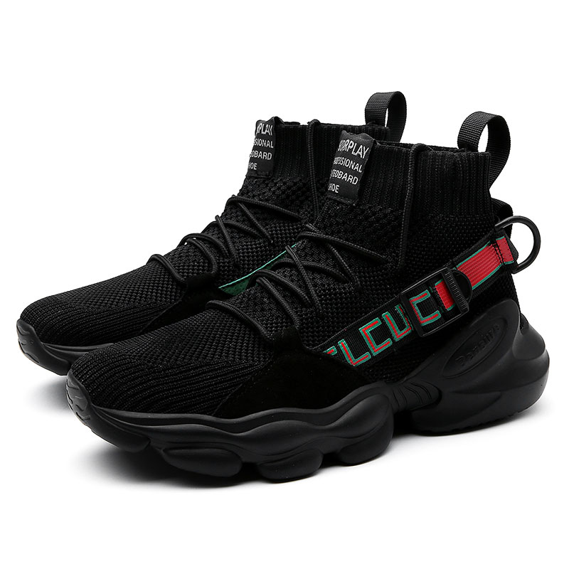 Newest Men Sports Running Shoes Men Sneakers Socks Athletic Trainers Male Colorful High Top Sneakers Zapatillas Hombre Deportiva