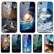 Tempered Glass Phone Case For Xiaomi Redmi GO Case Back