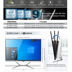 27 Inch White Gaming All in One Desktop Computer Intel 8 Core i7 9700F i5 i3 DDR4 with NVIDIA GTX1050TI 4G for PC Gamer