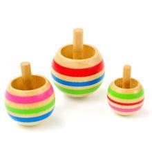 3 sztuk drewna etui z klapką na górze Tippie Top bączek magiczna zabawka dla dzieci zabawki chłopcy Favor prezent tanie tanio OOTDTY 5-7 lat 13-24 miesięcy 2-4 lat 8-11 lat Unisex 2 5-4cm Mini Zestaw