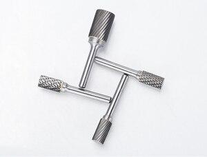 Image 2 - 1pc free solido di trasporto libero carburo di fresatura di acciaio al tungsteno taglierina, 6 millimetri gambo di Un tipo di Metallo testa di macinazione elettrica, strumento di lucidatura