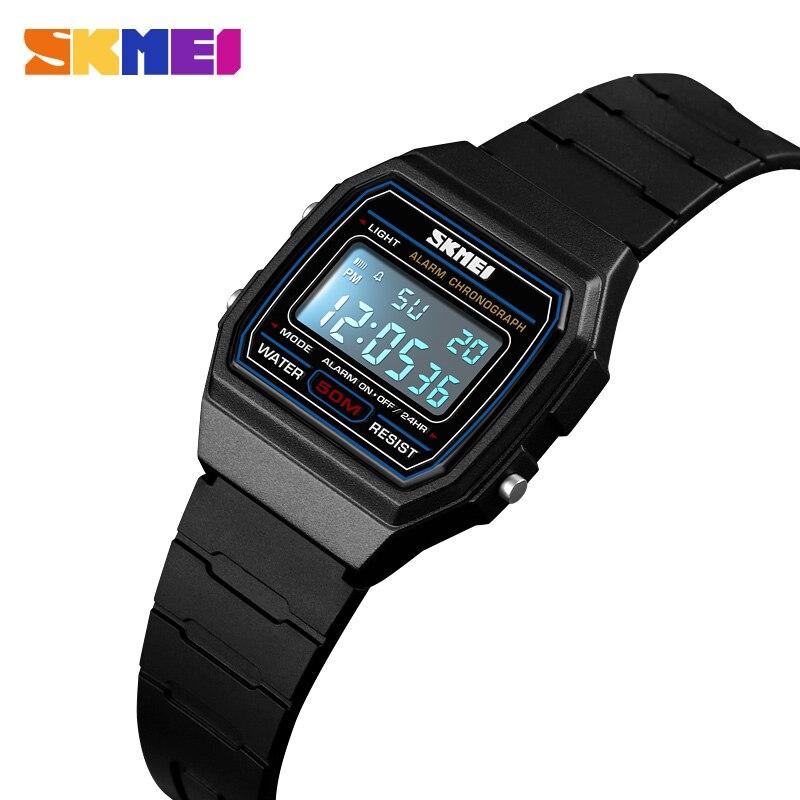 SKMEI LED Children Digital Watches Stopwatch Chronograph Sports Clock 50M Waterproof Kids Electronic Wristwatches For Boys Girls