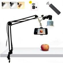 Fotografia telefoniczna 35W lampa LED ramię zawieszenia wspornik podstawa stołu zestawy do zdjęć nagrywanie wideo na żywo wypełnij światło 3 tryb oświetlenia