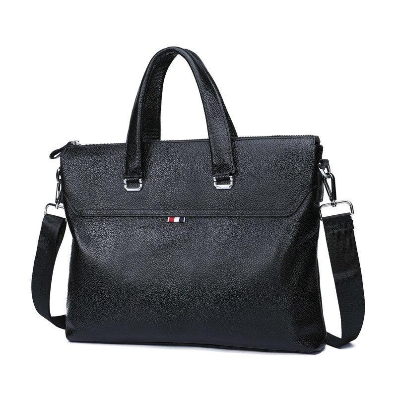 Man Male Business Affairs Male Package Handbag Genuine Leather Cross Section Cowhide Single Shoulder Package Oblique Satchel