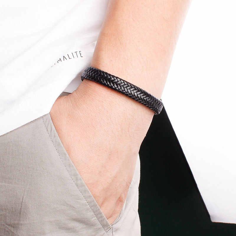 Najlepiej sprzedający się produkt w 2019: męska skórzana bransoletka, styl narodowy bransoletki ze skóry, trójwymiarowy wzór węża prezent
