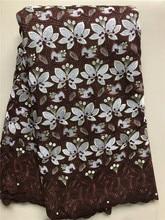 Новое поступление, африканская швейцарская хлопковая кружевная ткань высокого качества, нигерийская швейцарская вуаль, кружевная ткань дл...