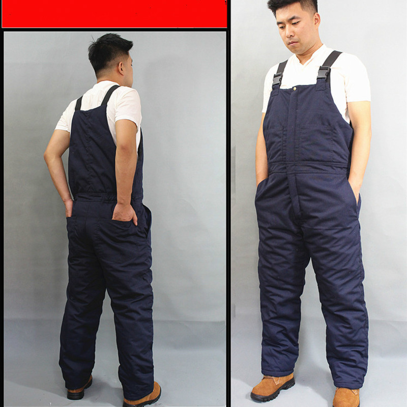 Winter Warm Thicken Working Tooling Overalls Male Work Wear Uniforms Wear Resistant Cold Proof Jumpsuits For Worker Repairman