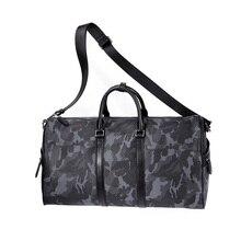 Presale VLLICON 35L Outdoor Travel Leather Bag Camouflage Large Capacity Sports Gym Fitness Handbag Shoulder