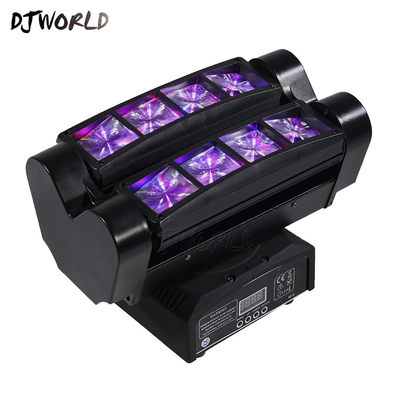 New Moving Head Led Spider Light 8x10W RGBW 4in1 Led Party Light DJ Lighting Beam Moving Head Light