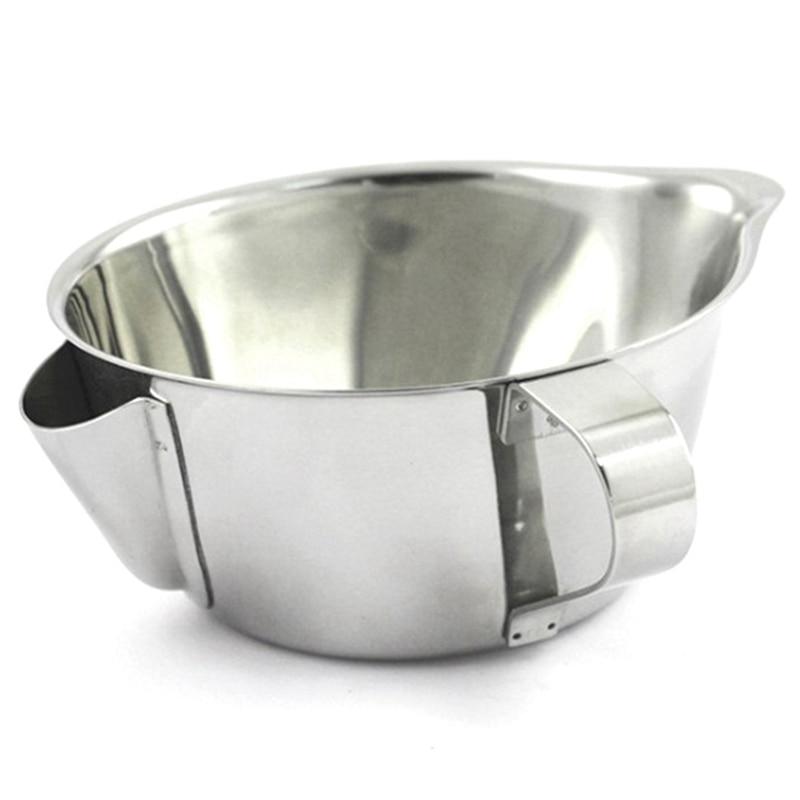 Ev ve Bahçe'ten Kahve Filtreleri'de Faydalı paslanmaz çelik et suyu yağ çorbası ayırıcı kase çok kullanımlı gres yağlayıcı filtre süzgeç Pot pişirme araçları yağ ayırıcı kase title=