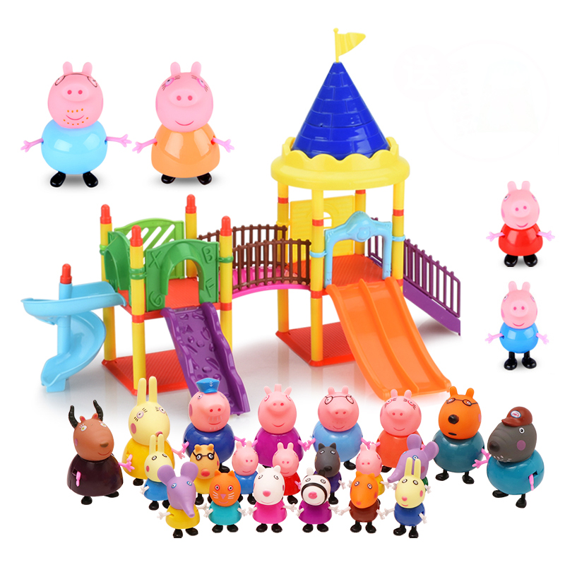 Peppa Pig Amusement Park Toys Peppa Pig Family Dolls Action Figure Model Toys Children Birthday Gift Christmas