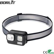 BORUiT B29 светодиодный налобный мини-фонарь XP-G2+ 2*5730+ 2*3030 красный светильник 8-режим головной светильник мощный 180LM Головной фонарь Водонепроницаемый охотничий светильник