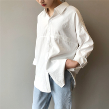 2020 Fashion Blouse Women Spring New Vintage Casual Loose Brief Ladies Tops Full-sleeve  White Korea Style Trend Women Shirts