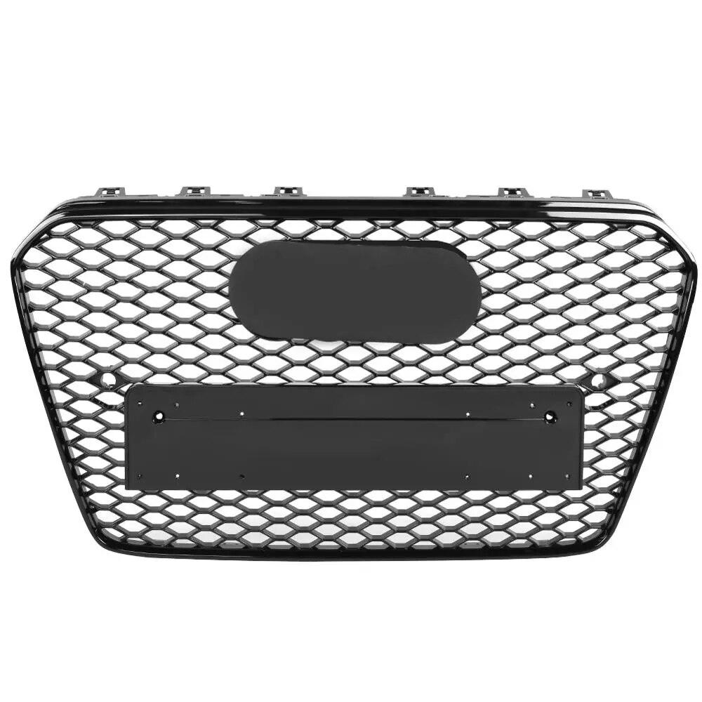 Для RS5 Стиль Honeycomb Передняя решетка для Audi A5 S5 B8.5 подтяжки лица 13-16 спортивные издание Шестигранная сетка глянцевый черный ABS капюшон гонки ре...