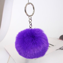 30 Colors Fluffy Fur Pom Pom Keychains Soft Faux Rex Rabbit Fur Ball Car Keyring Pompom Key Chains Women Bag Pendant Jewelry Diy plush toys dancing fluffy ball keychain soft women angel faux rabbit hair bulb 8cm fur pom pom mini doll stuffed toys kids gift