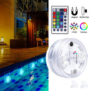 Submersible-Light Magnet-And-Suction-Cup Pond Underwater RGB with for 13-Led
