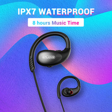 Ipudis IPX7 Tahan Air Sport Earphone Stereo Neckband Nirkabel Headphone Hi Fi Headset dengan Mikrofon untuk Xiaomi(China)