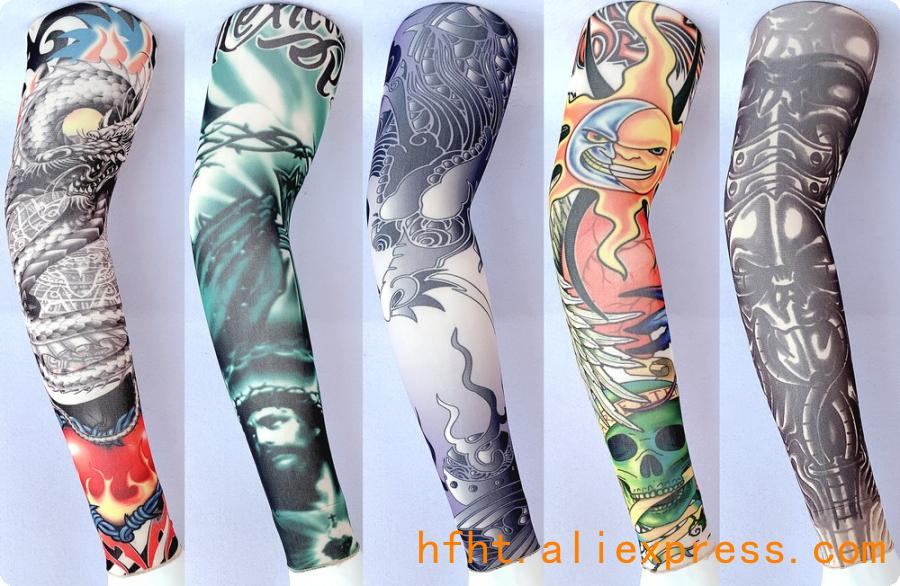 Dragon Totem Removable Tattoo Sleeve (Seamed), Outdoor Sunscreen Driving Arm Warmers