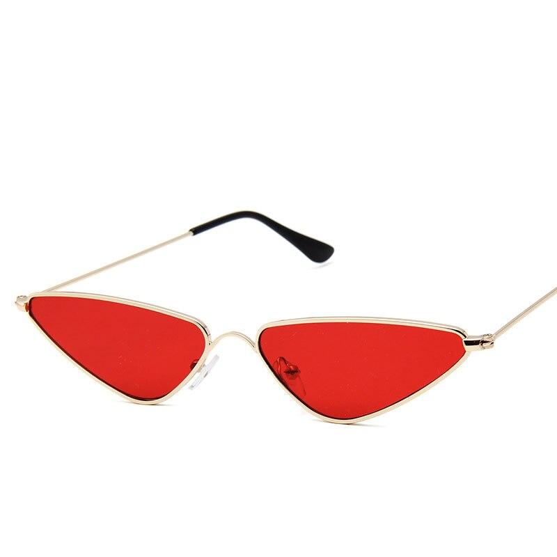 Трендовые новые маленькие солнцезащитные очки в оправе, модные Треугольные металлические очки в оправе, популярные многоцветные очки изве...