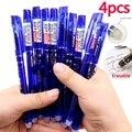 4 шт стираемый гель чернила синий красный темно-синий и черный чернил пишущий нейтральный карандаш