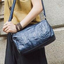 Genuine Leather Shoulder bags Women Top Grain Cow Handbag Female New fashion Women's Bag Crossbody Red Black Blue Gray