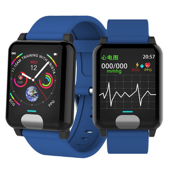 Ekg PPG inteligentny zegarek monitor ciśnienia krwi z elektrokardiogram wyświetlacz tętno inteligentna opaska opaska monitorująca aktywność fizyczną P67 wodoodporna tanie i dobre opinie MARFLY Silica Ciśnienie krwi ECG PPG Smart Band 1 3 Color screen Nadgarstek