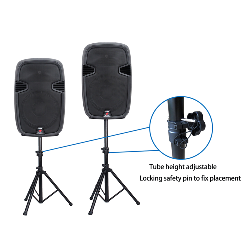 2pcs speakers with speaker stands