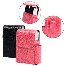 1PC Cigarette Case Crocodile Pattern Cigarette Box Lighter Holder Tobacco Smoke