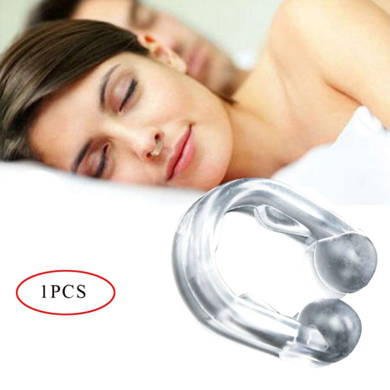 Practical Durable Mini Snore Stopper Portable Durable Nose Clip PVC Box With Mirror Houehold Healty Care