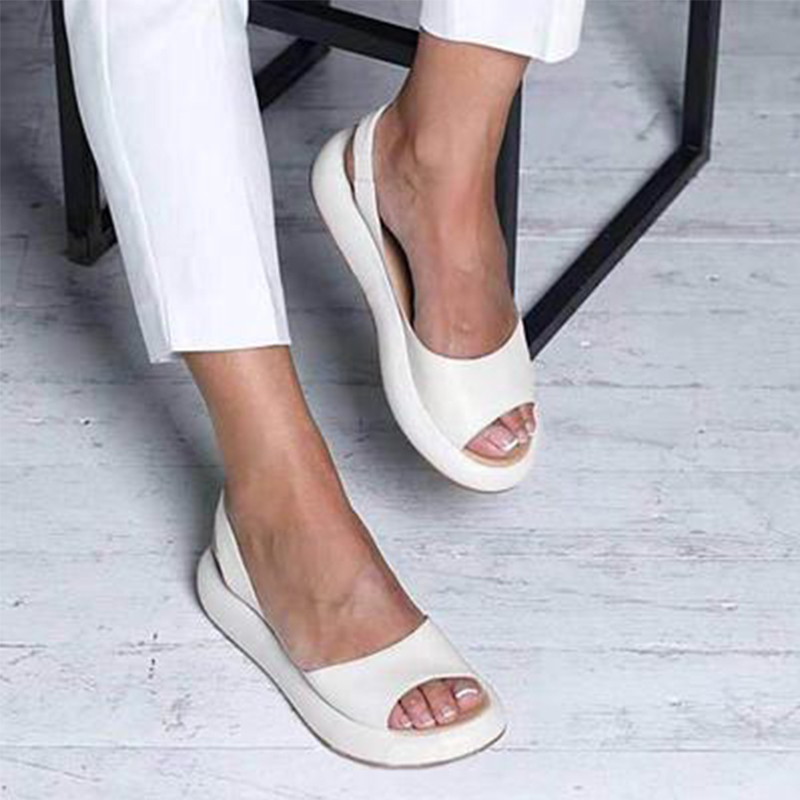 Summer Women Sandals Shoes 2020 Slip-On Open Toe Breathable Woman Shoes Solid Casual Sandals Female Low Heels Walking Shoes