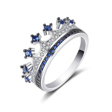 women rings My Princess Queen Crown Ring Design Wedding Rings For Women Jewelry  anniversary crown ring